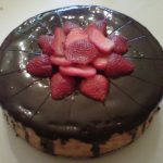 Strawberry and Chocolate Cheesecake